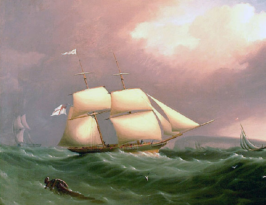hogarth ship oil painting tonal control